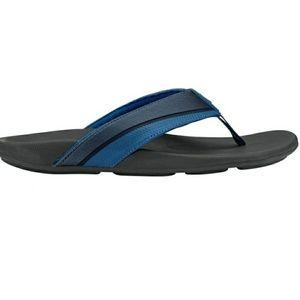 NWT OLUKAI HALUA trench blue flip flop